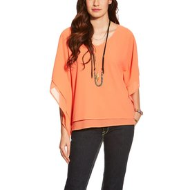 Ariat Women's Madison Coral Flowy Blouse