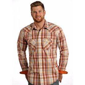 Panhandle Men's Rough Stock Snap Front Shirt R0F4187 C3