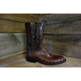 Lucchese Men's Cigar Ostrich Roper Boot C4 8.5 D