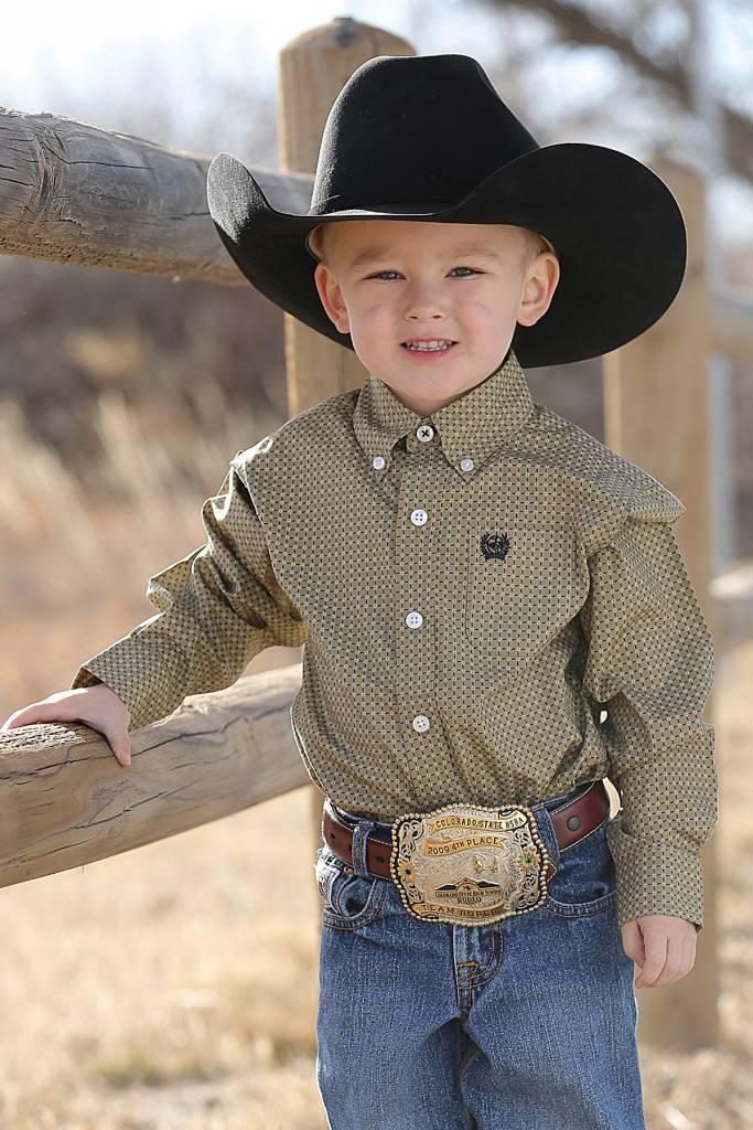 2fd0f7d5 Cinch Infant Boy's Cinch Button Down Shirt MTW7062169 | Corral ...