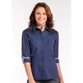 Panhandle Women's Rough Stock Snap Front Shirt R4S4248 Large