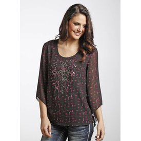 Rock and Roll Cowgirl Women's Rock & Roll Cowgirl Blouse B4-4472 C3