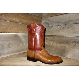 Lucchese Men's Smooth Ostrich Roper Western Boot C3 7EE