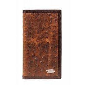 Nocona Belt Co. Men's Ostrich Print Rodeo Wallet