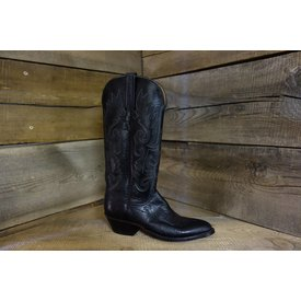 Lucchese Women's Black Smooth Ostich Western Boot C5