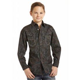 ROCK&ROLL COWBOY Boy's Rock & Roll Cowboy Snap Front Shirt B8S4131