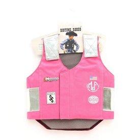 M&F Children's Pink Bull Rider Vest Size XL