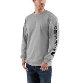 Carhartt Men's Carhartt Logo T-Shirt K231-HGY B/T