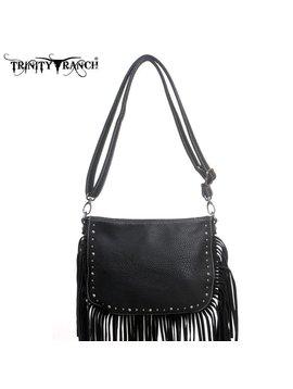 Trinity Ranch Trinity Ranch Fringe Handbag TR09-8316 BK