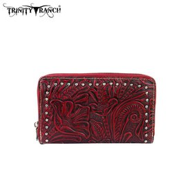 Trinity Ranch Trinity Ranch Tooled Wallet TR22-W003 RD