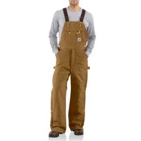 Carhartt Men's Carhartt Quilt Lined Bib Overall R41-BRN