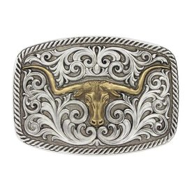 Montana Silversmiths Golden Longhorn Buckle