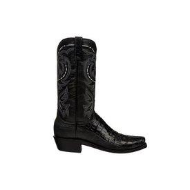 Lucchese Men's Black Caiman Douglas Boot
