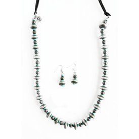 West & Co. Burnished Silve and Turquoise Jewelry Set