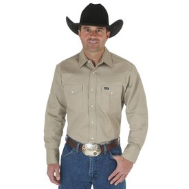 Wrangler Men's Wrangler Authentic Cowboy Cut Snap Front Work Shirt MS70319