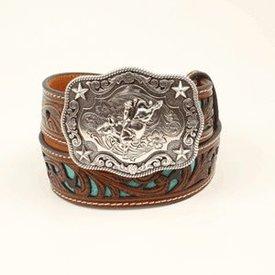 Nocona Belt Co. Boy's Turquoise Bull Rider Belt