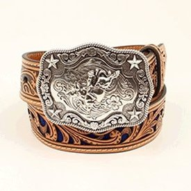 Nocona Belt Co. Boy's Tan and Blue Belt