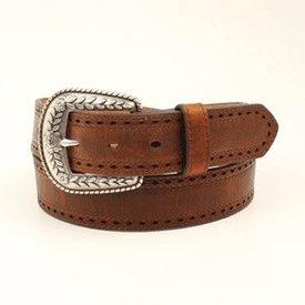 Ariat Women's Brown Leather Pierce Edge Belt