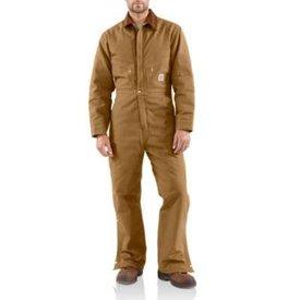 Carhartt Men's Carhartt  Quilt Lined Duck Coveralls X01-BRN