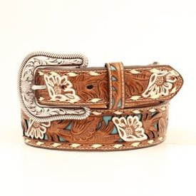 Nocona Belt Co. Women's Floral Embossed Western Belt