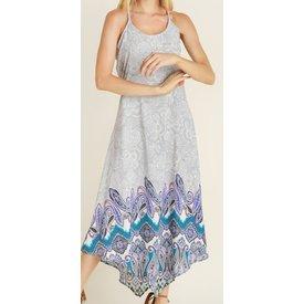Vocal Women's Grey Paisley Maxi Dress