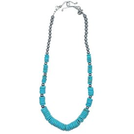 West & Co. Turquoise and Silver Beaded Necklace