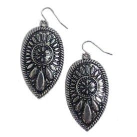 West & Co. Teardrop Concho Earrings