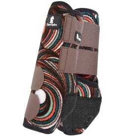 Classic Equine Legacy System Small Front Splint Boots Chocolate Swirl