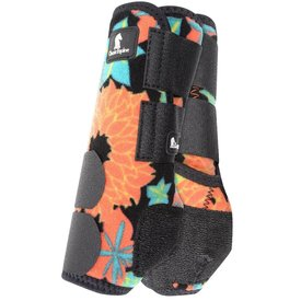 Classic Equine Legacy System Large Hind Splint Boots Coral Tropics