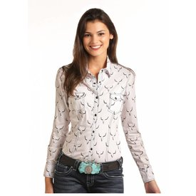 Rock and Roll Cowgirl Women's Rock and Roll Cowgirl Snap Front Shirt B4S6041
