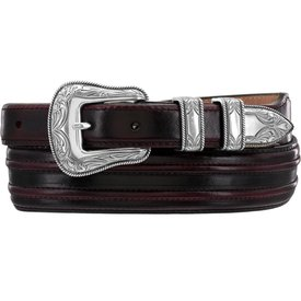 Justin Men's Black Cherry Belt