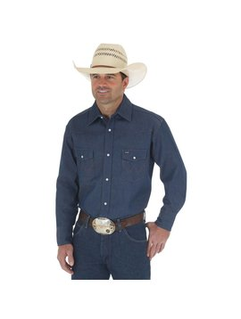 Wrangler Men's Wrangler Authentic Cowboy Cut Snap Front Work Shirt 70127MW