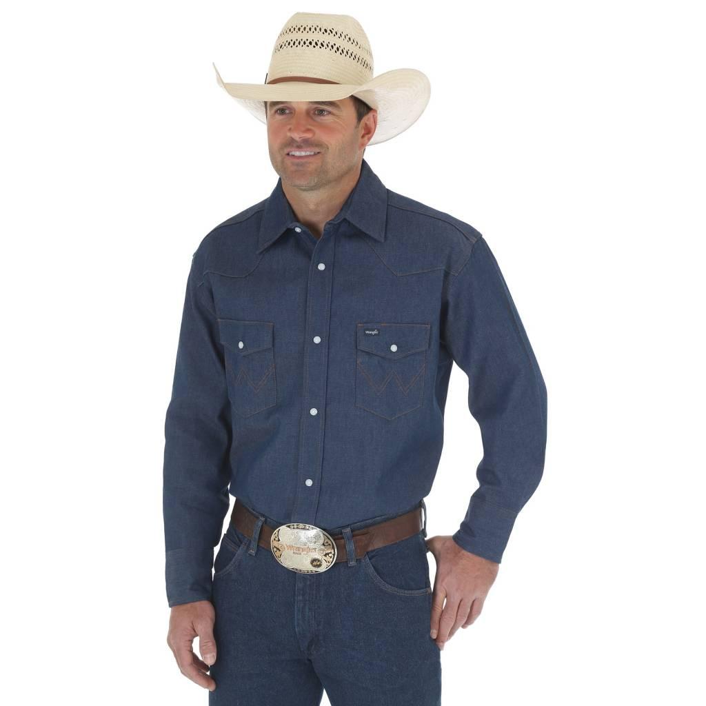f74a1da1c46 Wrangler Men s Wrangler Authentic Cowboy Cut Snap Front Work Shirt 70127MW