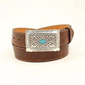 Ariat Women's Brown Scroll Belt