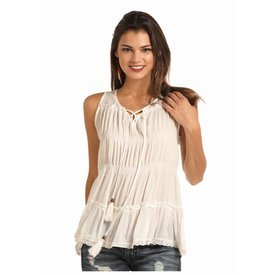 Rock and Roll Cowgirl Women's Rock & Roll Cowgirl Sleeveless Blouse  B5-6095
