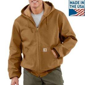 Carhartt Men's Carhartt Thermal Lined Duck Active Jacket J131-BRN B/T