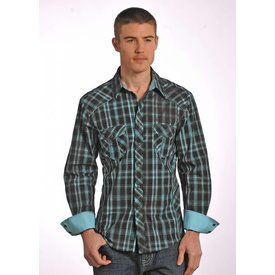 ROCK&ROLL COWBOY Men's Rock & Roll Cowboy Snap Front Shirt B2S4428 C3 2XL