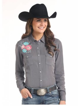 Panhandle Women's Rough Stock Snap Front Shirt R4F7623