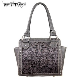 Montana West Women's Trinity Ranch Tooled Handbag TR18-L8250 BK