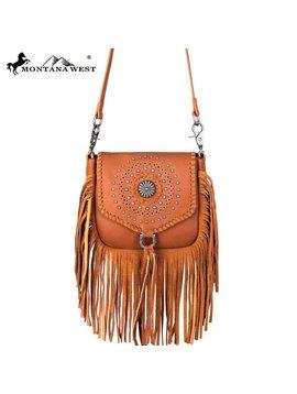 Montana West Women's Montana West Fringe Crossbody Bag RLC-L109 BR