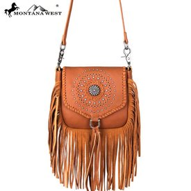 Montana West Women's Montana West Fringe Crossbody Bag RLC-L109 BR