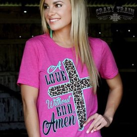 Crazy Train A Love Without End, Amen Tee Size Small