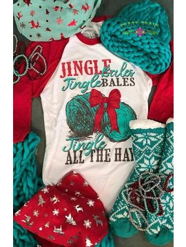 Crazy Train Jingle Bales Baseball Tee