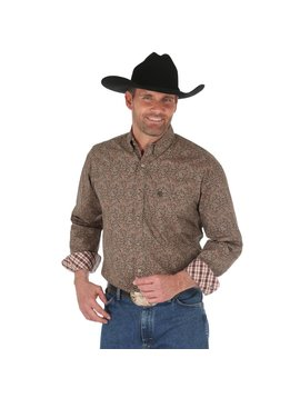 Wrangler Men's Wrangler George Strait Button Down Shirt MGSE514