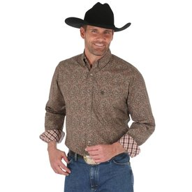 Wrangler Men's Wrangler George Strait Button Down Shirt  MGSE514 C3