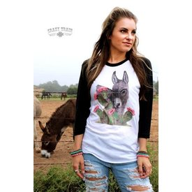 Crazy Train Buddy Burro Baseball Tee