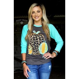 Crazy Train Leaves of Leopard Baseball Tee