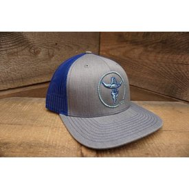Prime Time Rodeo PRIME TIME RODEO HEATHER GREY/BLUE MESH LOGO