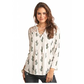 Rock and Roll Cowgirl Women's Rock & Roll Cowgirl Blouse 48T7443