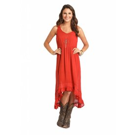Rock and Roll Cowgirl Women's Orange Dress C4